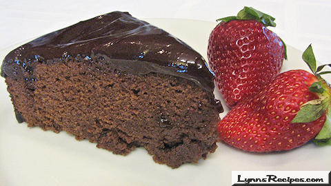 Chocolate Ganache Cake -- Lynn's Recipes Valentine's Day