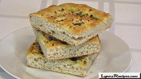 Flatbread with Rosemary & Olive Oil