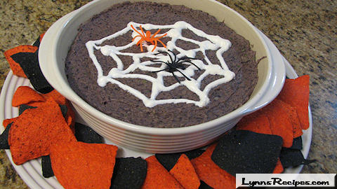 Halloween Black Bean Dip