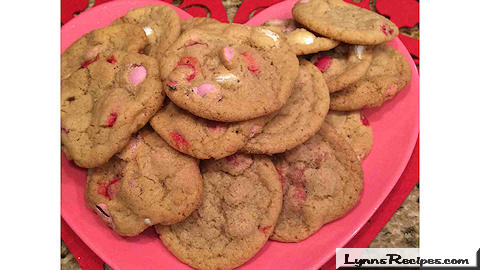 Valentine's Day M & M Cookies