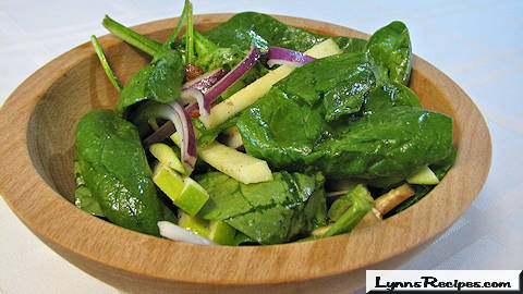 Spinach, Apple, Bacon Salad