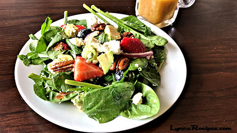 Strawberry-Blueberry Spinach Salad