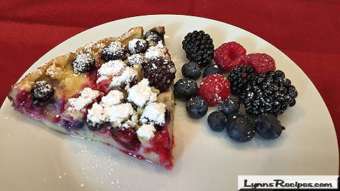 Triple Berry Clafoutis